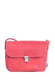 Маленькая кожаная сумочка на плечо Красный