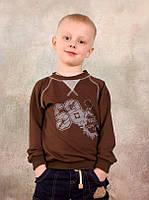 Модный реглан из двунитки для мальчика 3-8 лет