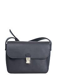 Маленькая кожаная сумочка на плечо Черный