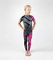 """Комплект компрессионной одежды для девочки для Браз. джиу-джитсу BJJ""""Clash Kids""""(рашгард+легенсы)"""