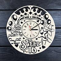Часы настенные из дерева «Сладкие 16», фото 1