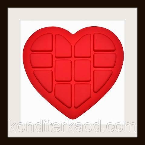 Сердце пазл Размер ячейки в среднем 5,5х7см