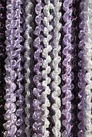 Шторы нити Радуга Спирали Белый+Сиреневый+Фиолетовый