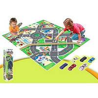 Большой и красочный игровой коврик (Машинки дорожные знаки), фото 1