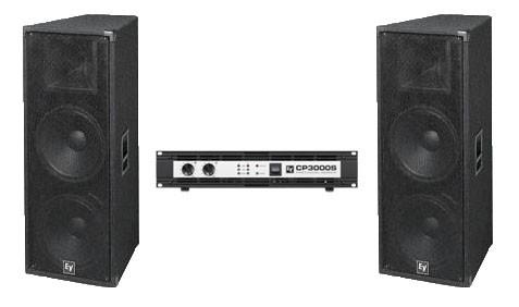 Система звукоусиления Electro Voice T252+(2шт.) + усилитель  Electro Voice CP-3000S (1 шт.)