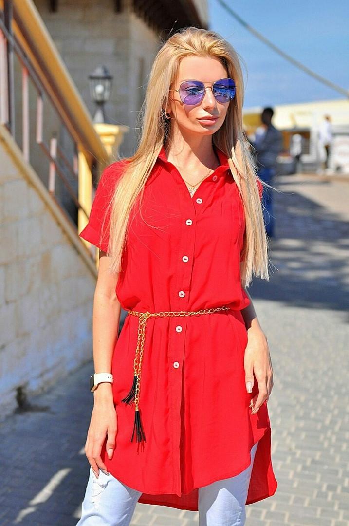Платья рубашка с поясом