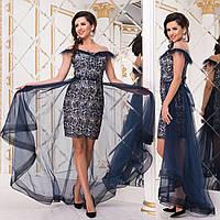"""Елегантне вечірнє плаття-трансформер з мережива """"Імперія гранд"""", фото 1"""