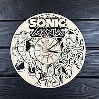 Бесшумные настенные часы из дерева «Соник», фото 1