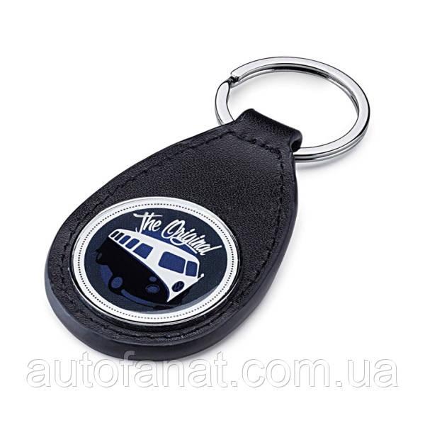 Оригинальный кожаный брелок Volkswagen T1 Bulli, Leather, Blue (7E0087013)