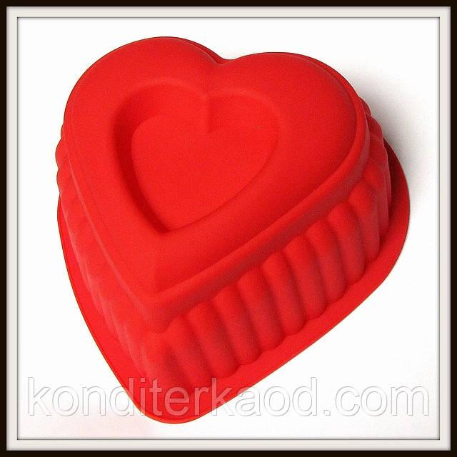 Силиконовая форма Сердце в сердце высота 14 см