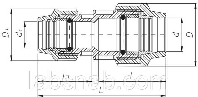 муфта редукционная unidelta чертеж