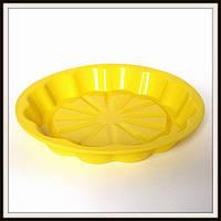 Силиконовая форма для пирога или пицы диаметр 24 см глубина 3-3,5 см