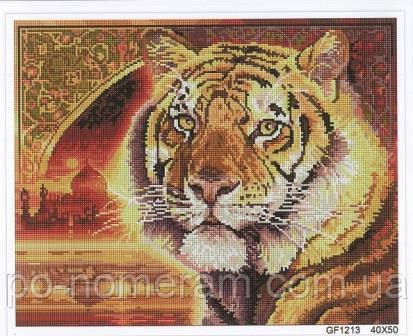 Алмазная мозаика Алмазна мозаїка Индийский тигр (GF1213) 40 х 50 см (Без подрамника)