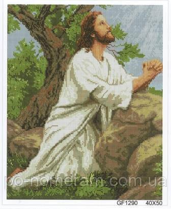 Картина из страз Алмазна мозаїка Молитва Иисуса (DGF016) 40 х 50 см (Без подрамника)
