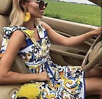 Платье сарафан Dolce & Gabbana с орнаментом