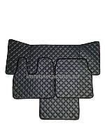 Автомобильные ковры из эко-кожи MAN TGА серые в узкую кабину
