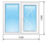 Металлопластиковое окно ALM-plast однокамерное двухстворчатое. Металлопластиковое окно Киев.