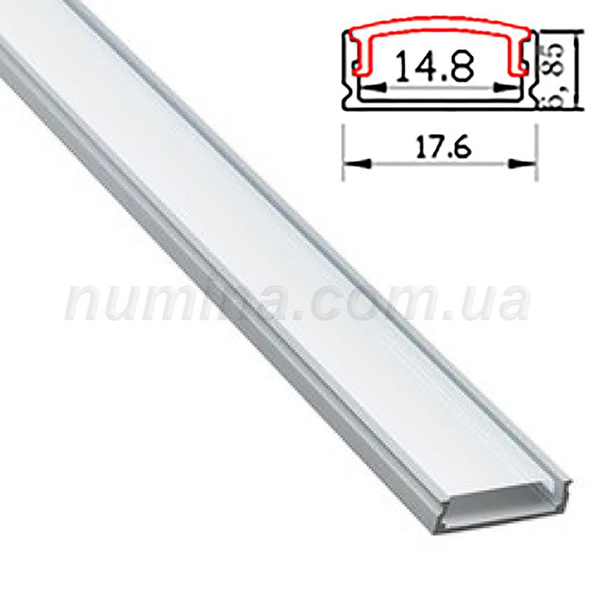Профиль для светодиодной ленты накладной
