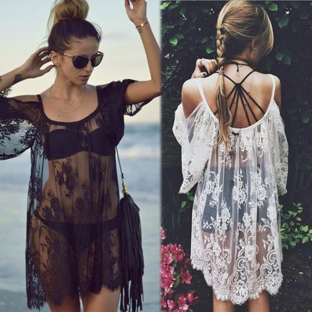 Пляжные аксессуары (платья, юбки, парео)