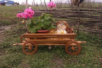 Декоративний віз-карета для саду