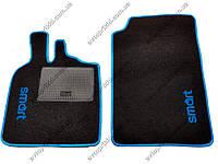 Текстильные коврики в салон и багажник Smart ForTwo, 2 шт. (Украина, ML)