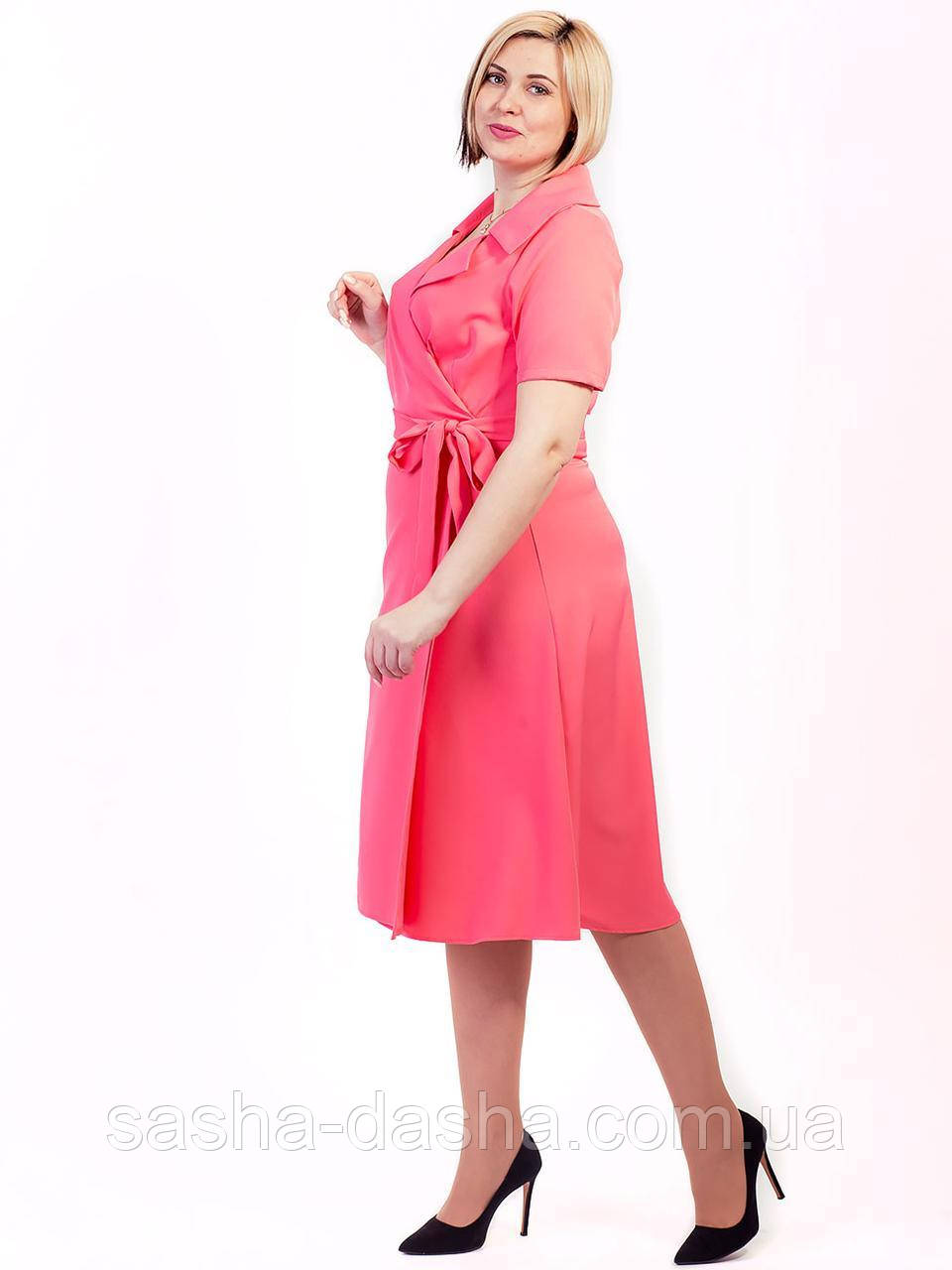 🌺 Элегантное летнее платье в больших размерах