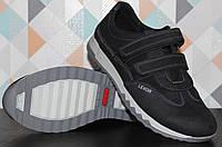 Подростковые кроссовкикожаныена липучке, детская кожаная обувь от производителя модель ВИ515П