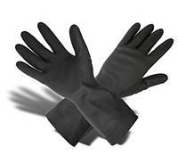 Перчатки КЩС резиновые черные тип 2, L