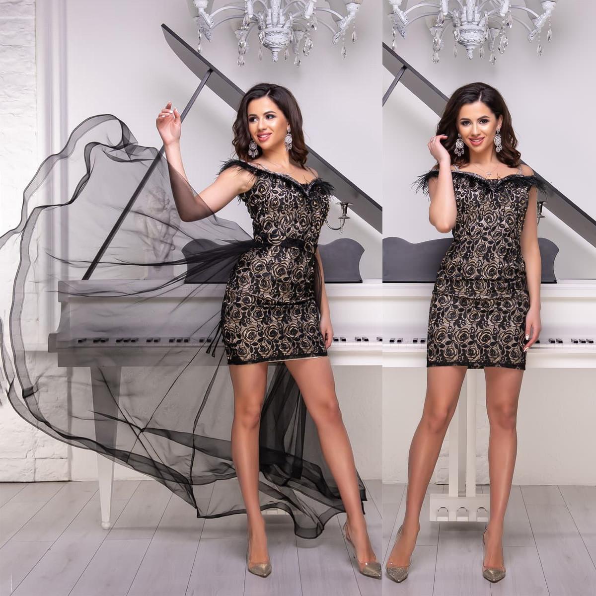 """Чорне мереживне вечірня сукня-трансформер """"Імперія гранд"""""""