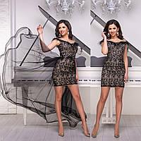 """Чорне мереживне вечірня сукня-трансформер """"Імперія гранд"""", фото 1"""