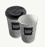 "Стакан 350 мл ""Black & White - ЕВРО"""