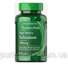 Селен Puritan's Pride Selenium 200 mcg 100 капс., фото 3