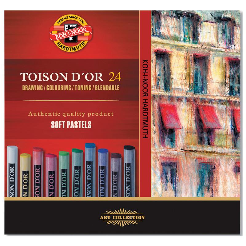 Крейда-пастель TOISON D'OR, 24 кол., арт. 8514, KOH-I-NOOR