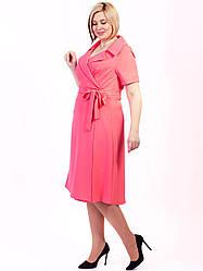 Женское платье под пояс большого размера