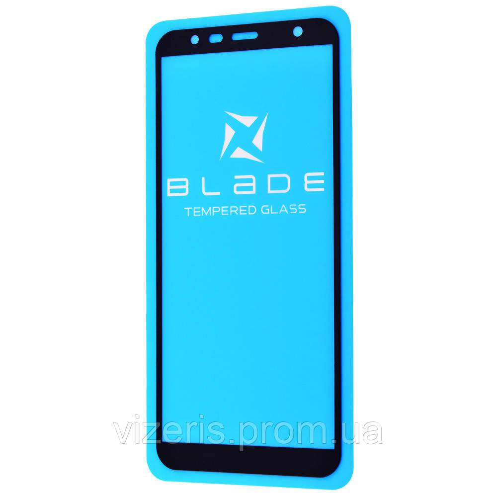 Защитное стекло на Samsung Galaxy A7 2018 (A750F)  BLADE Full Glue (тех.пак) Черное