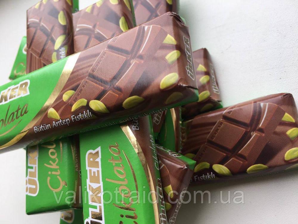 Шоколад Ulker молочный  с фисташками, 32г