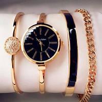 Часы в подарочной упаковке watch set ANNE KLEIN gold black