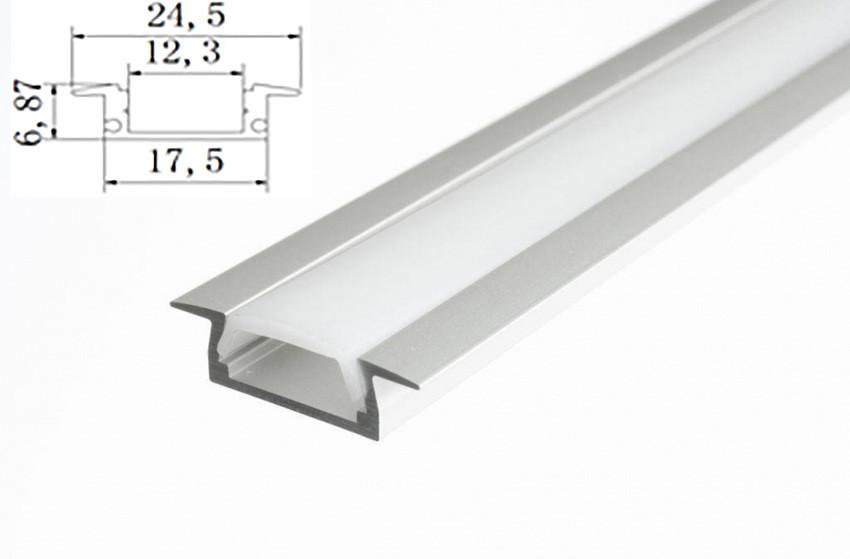 Профиль для светодиодной ленты врезной