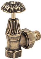 V673 Кран радиаторный верх. угловой (бронза) 1/2'х1/2''