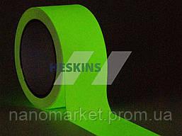 Люмінесцентна клейка маркувальна стрічка HESKINS 50 мм/погонний метр (10 м)
