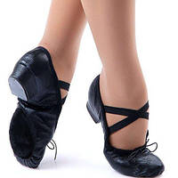 Туфли кожаные на каблуке тренировочные Rivage line 1104 черные, кожа