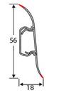 Плинтус Тис 51 Венге классический 56мм с кабель -каналом, фото 2