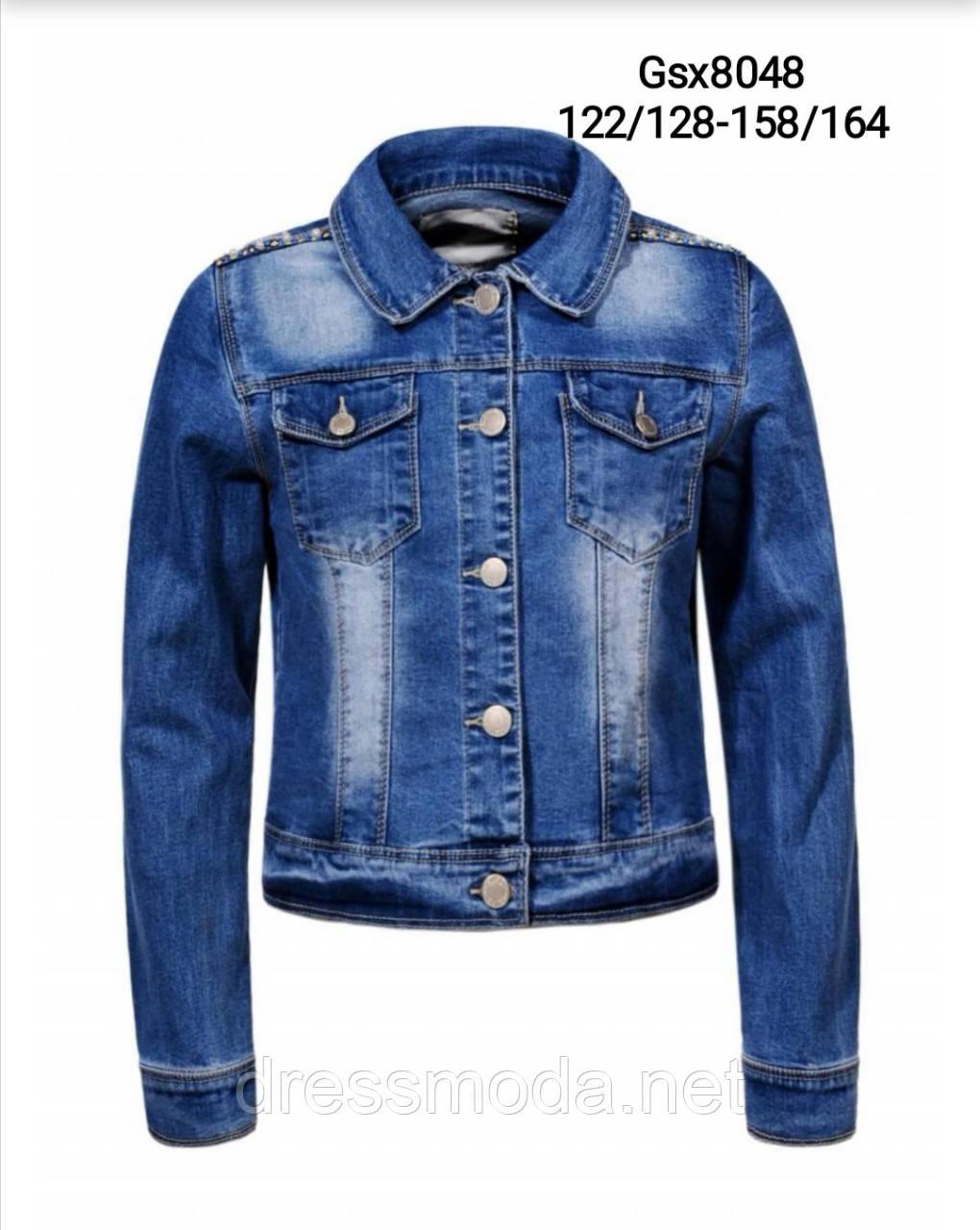 Джинсовая куртка  для девочек Glo-story 122/128-158/164 р.р