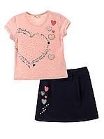 Комплект для девочки 11839 (Розовый с синим  110)