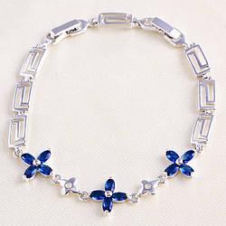 Браслет 3 синих цветка