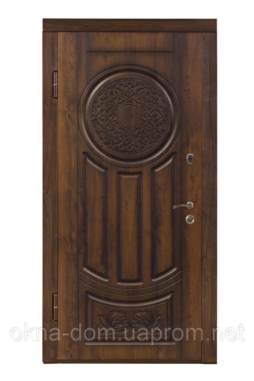 """Входная дверь """"МИНИСТЕРСТВО ДВЕРЕЙ"""" ПВ-61 V Дуб темный Vinorit (Патина)"""