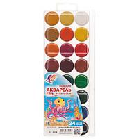 Краски акварель Луч Мини 29c1692, 24 цвета, б/кист.