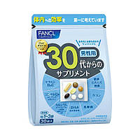 Комплекс витаминов для мужчин 30+, на 30 дней, FANCL, Япония