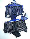 Купальник женский шортики чёрный в полоску, фото 6