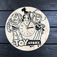 Очаровательные детские деревянные часы на стену «Toy story»